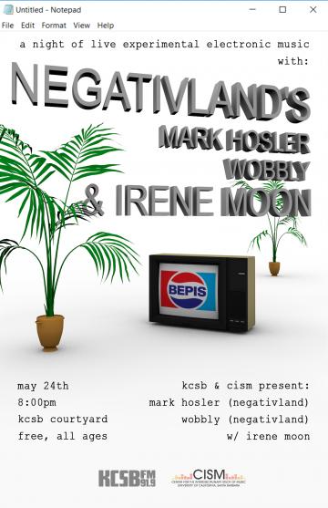 Negativland's event poster