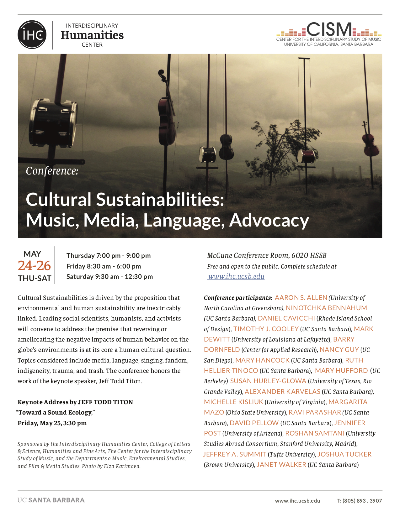 poster of cultural sustainabilities conference